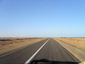 Photo: Droga wzdłuż oceanu w kierunku Mauretanii