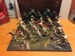 Photo: POM du 12/04/15 - figurines finies bis, soclage des figurines qui etaient en cours effectué, il me manque toujours les deux squelettes deserteurs