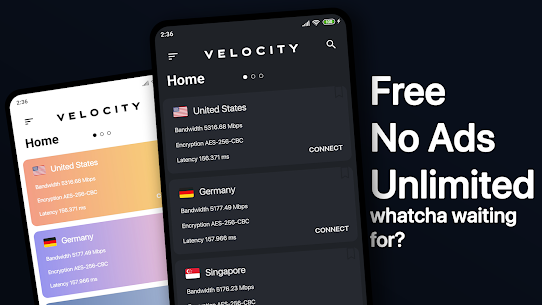 Velocity VPN MOD APK 0.2.3 5