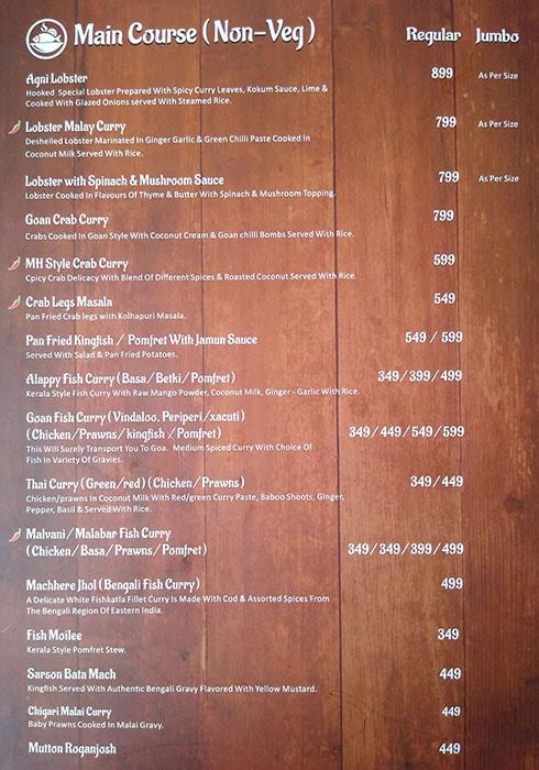 Hooked Seafood Restaurant menu 2