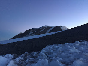 Photo: First view of the summit of Mount Adams