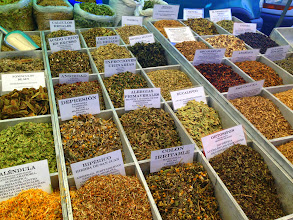 Photo: Aguilas market herb and spice stall