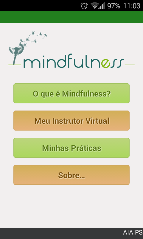 Mindfulness: captura de tela