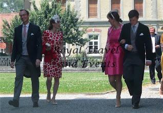 Photo: Countess Magdalena of Habsburg-Lothringen with husband Sebastian Bergmann, Count Valentin and Countess Christine of Habsburg-Lothringen