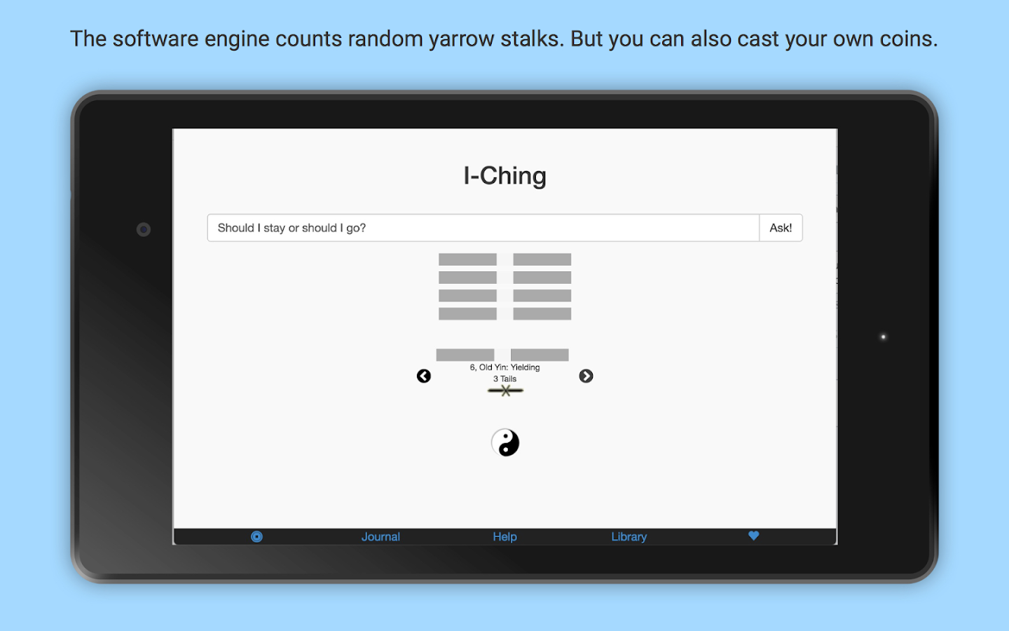 I-Ching: App of Changes- screenshot