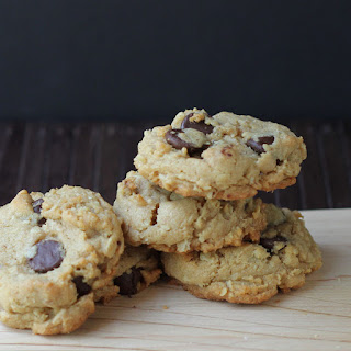 Peanut Butter, Oatmeal, and Dark Chocolate Chip Cookies