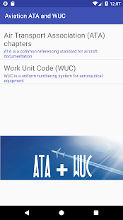 Aviation ATA and WUC - náhled