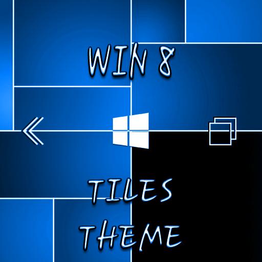 Win8 Blue Tiles XZ Theme 個人化 App LOGO-APP開箱王