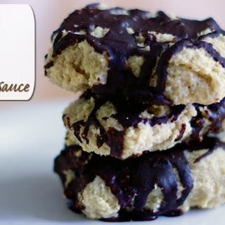 Paleo Almond Squares with Chocolate Sauce