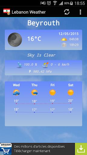 Weather for Lebanon