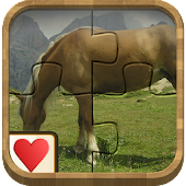Jigsaw Solitaire Horses