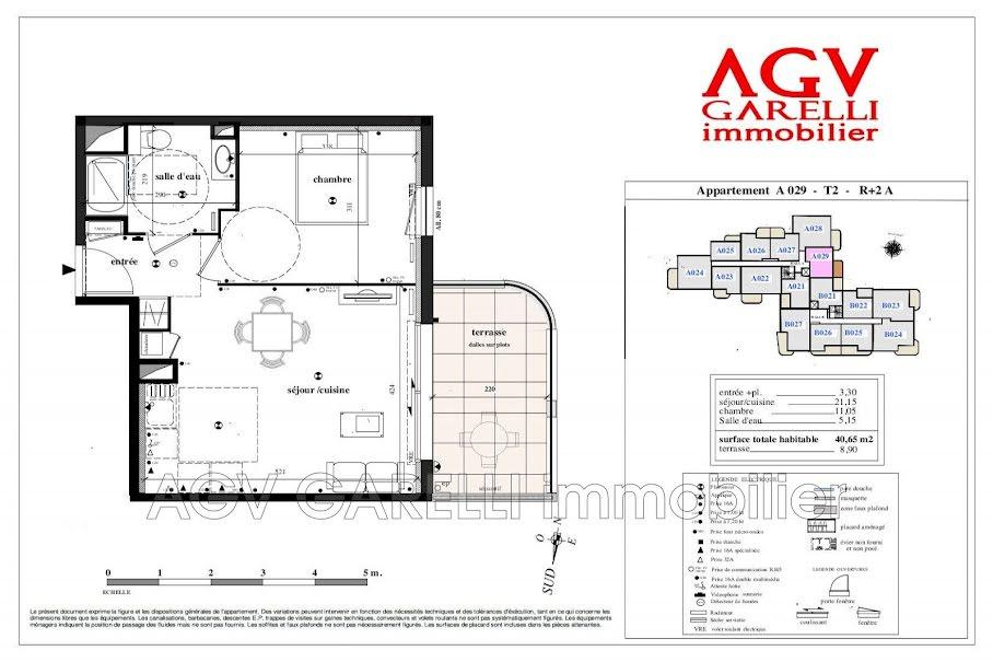 Vente appartement 2 pièces 40.65 m² à Toulon (83100), 226 000 €