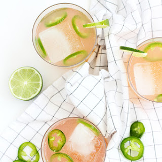 Spicy Paloma Cocktail.