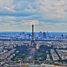 paris by Jorrit Prmt - City,  Street & Park  Skylines ( eiffel tower, paris, la defense, euro 2016, montparnasse )