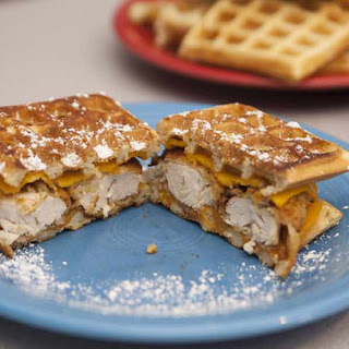 The Mouthwatering Chicken And Waffle Grilled Cheese Sandwich