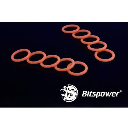"""Bitspower O-ring for 1/4""""BSP gjenger, 10 stk, UV Orange"""