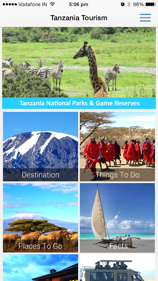 Official Tanzania Tourism- screenshot
