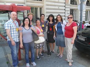 Photo: Наставници на окупу у Кнез Михаиловом улици.