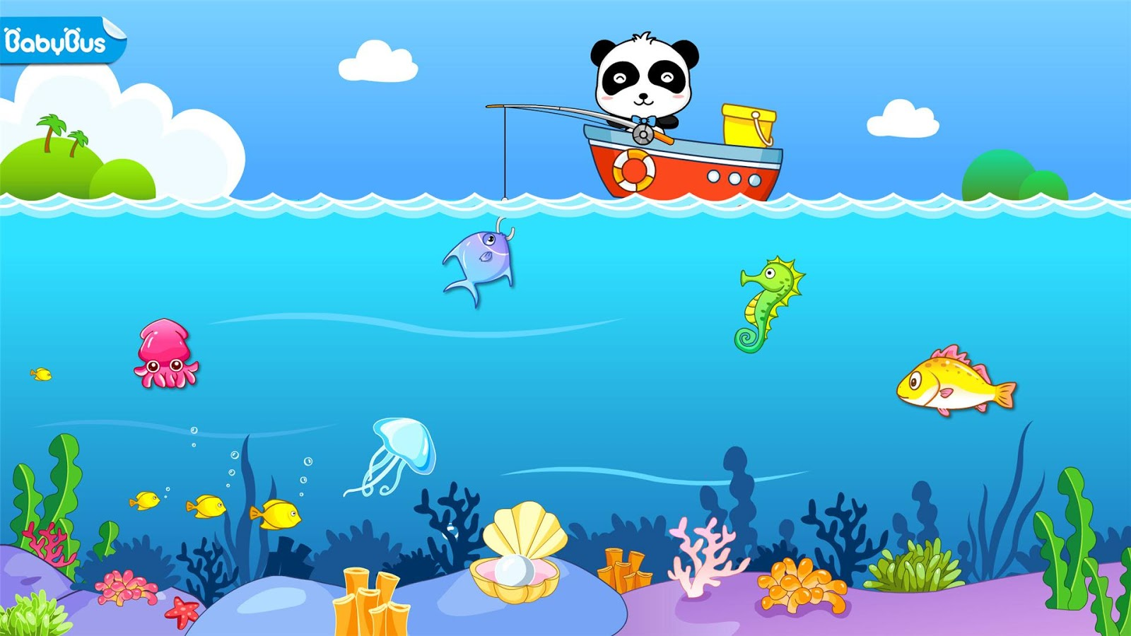Happy fishing game for kids android apps on google play for Wmat game and fish