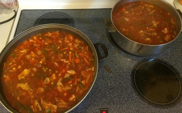 Mom said she tastes and wants this soup more brothy not necessarily thick. The...