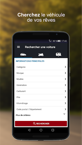 La Centrale voiture occasion Android App Screenshot