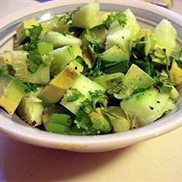 Tangy Cucumber And Avocado Salad Recipe