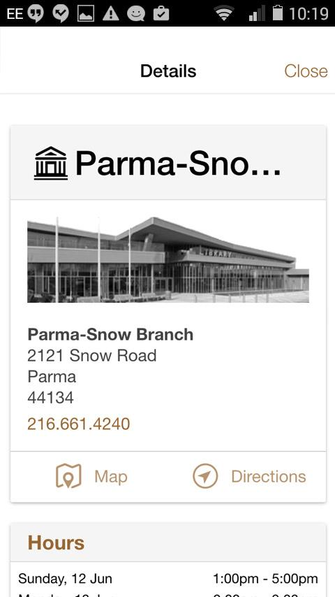 Cuyahoga County Public Library- screenshot
