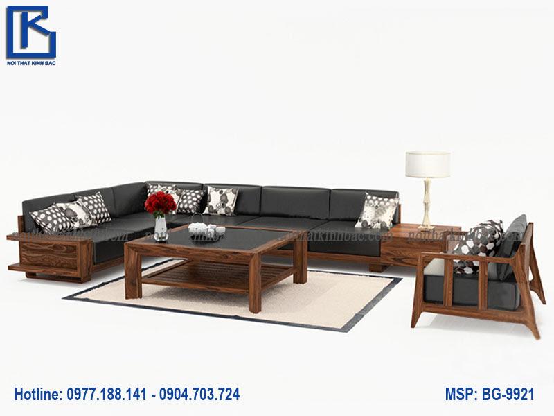 Bàn ghế gỗ phòng khách đẹp BG-9921
