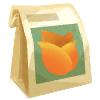 オレンジのチューリップのタネ