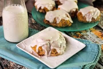 Glazed Cinnamon Drop Biscuits