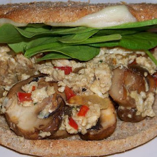 Power Breakfast Sandwiches With Mushrooms and Bell Peppers