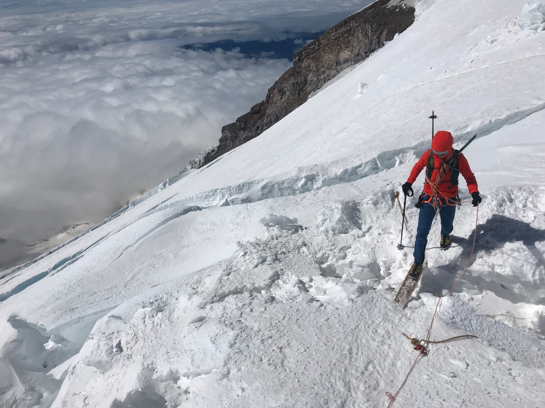 Stepping across Crevasses