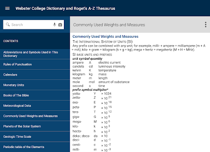 Webster's Dictionary+Thesaurus- screenshot thumbnail