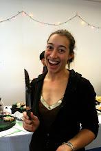 Photo: margaret wielding a knife