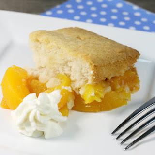Easy Cake Mix Peach Cobbler.