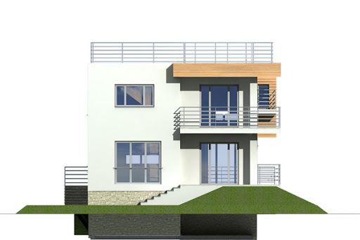 Nasz Dom wersja A - Elewacja tylna