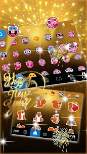 Gold 2018 New Year Keyboard Theme 1.0 Android APK Mod 2