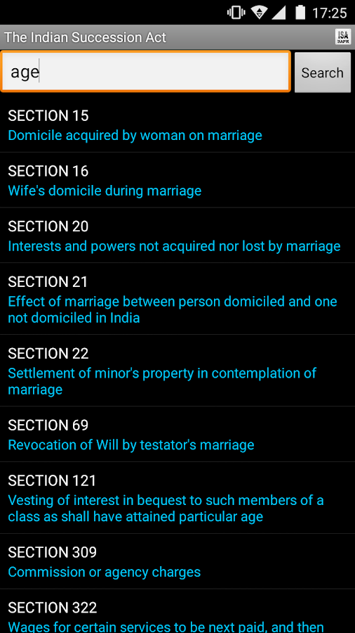The Indian Succession Act- screenshot