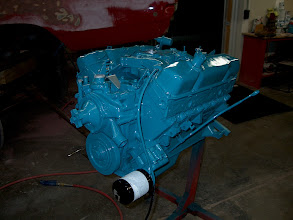 Photo: 1968 Plymouth GTX engine freshly rebuilt and painted with the correct turquise color, no to green and not to blue