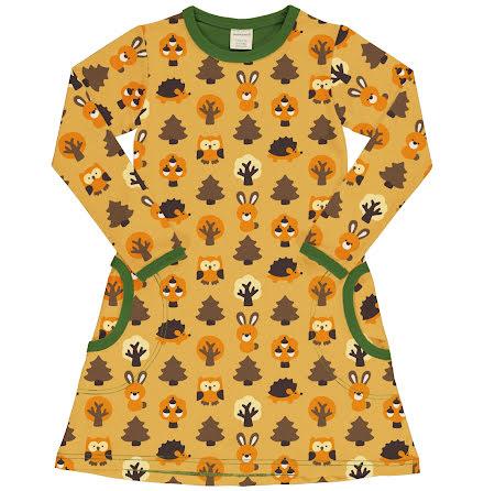 Maxomorra Dress LS Yellow Forest