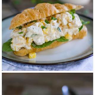 Mango Chicken Salad Sandwiches.