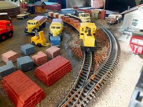Photo: 021 Most of the motive power at the Old Time Brickworks is in the hands of a fleet of Minitrains Plymouth diesel locomotives .