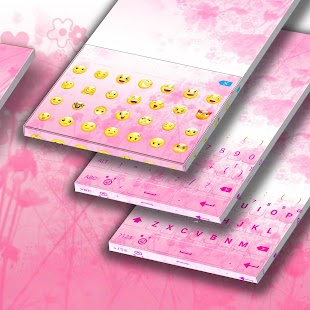 Pink Flower InstaKeyboard - náhled