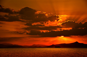 Photo: monochrome ...red  just another sunset over the Aegean Sea, from just another ship on just another summer...  #SeaTuesday