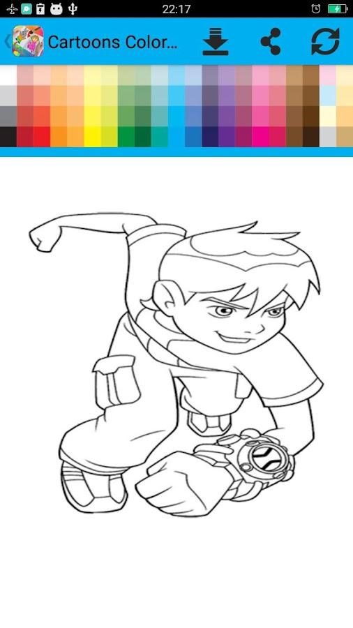 Kids Cartoons Coloring Book Screenshot