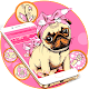 Download Pink Cute Puppy Theme For PC Windows and Mac