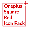 Square Red Icon Pack Oneplus Style APK Icon