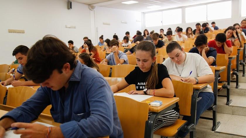 Examen de Selectividad de septiembre en Andalucía.
