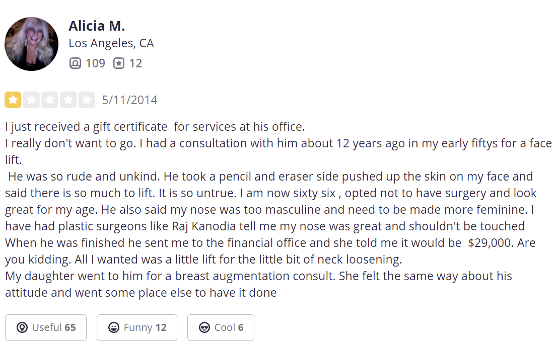 Dr Garth Fisher Reviews