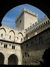 Photo: A view inside the Popes Palace in Avignon.  Popes lives here rather than Rome during the 100 years wars (1400s)